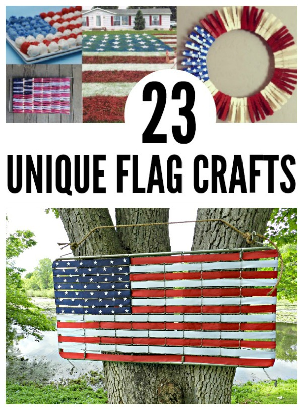 23 unique flag crafts