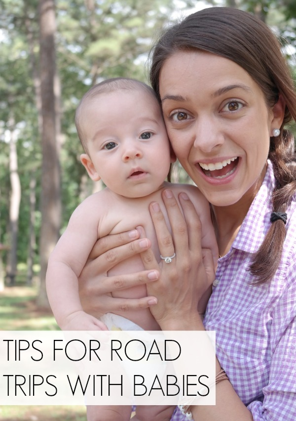 Tips for traveling with a baby on road trips!