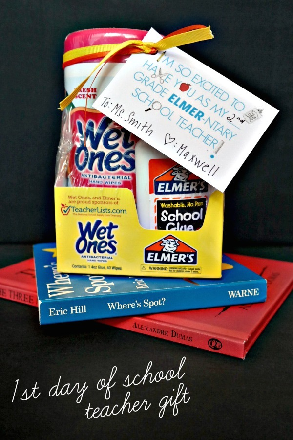 Easy teacher gift for the 1st day of school