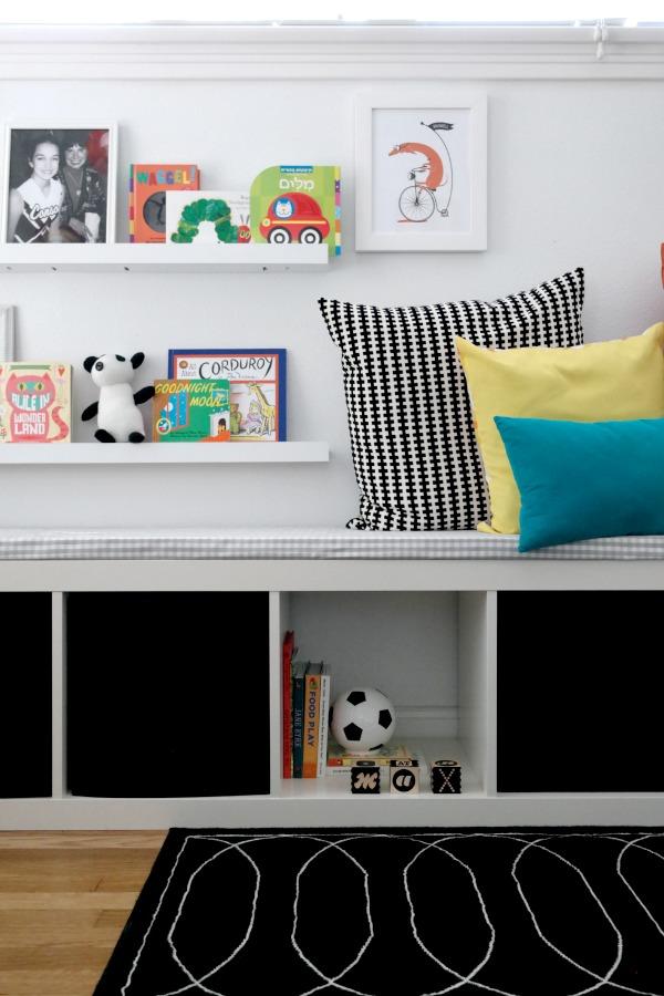 DIY black and white nursery