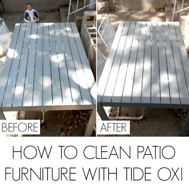 How to clean furniture with Tide Oxi