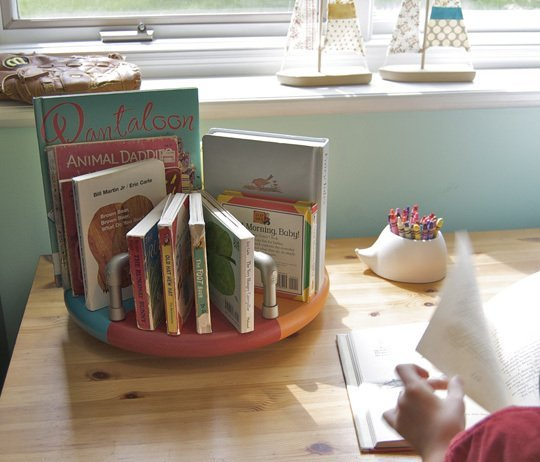 PVC pipe book caddy
