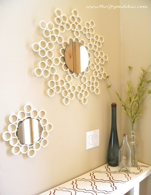 PVC pipe mirror