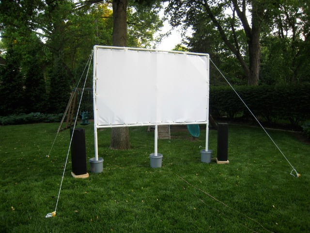 PVC pipe movie screen