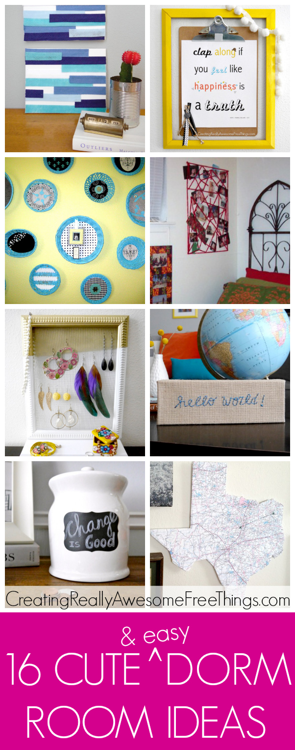 16 cute and easy dorm room decorating ideas