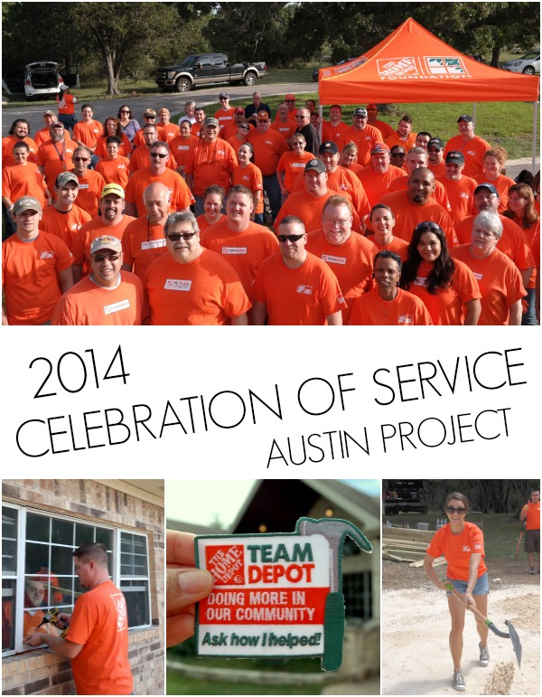Team Depot Celebration of service day with Home Depot