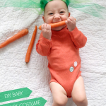 DIY baby carrot costume