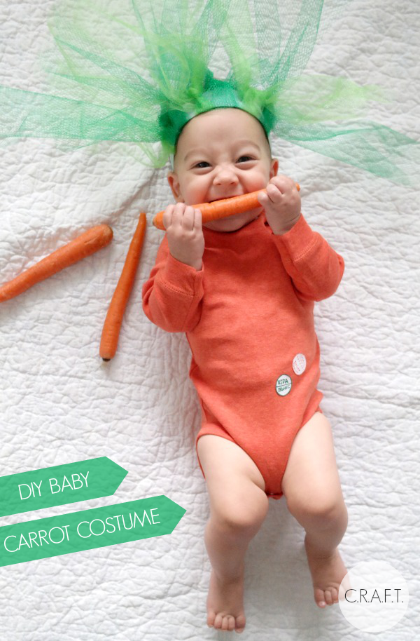 Homemade halloween costumes for babies: DIY carrot costume!