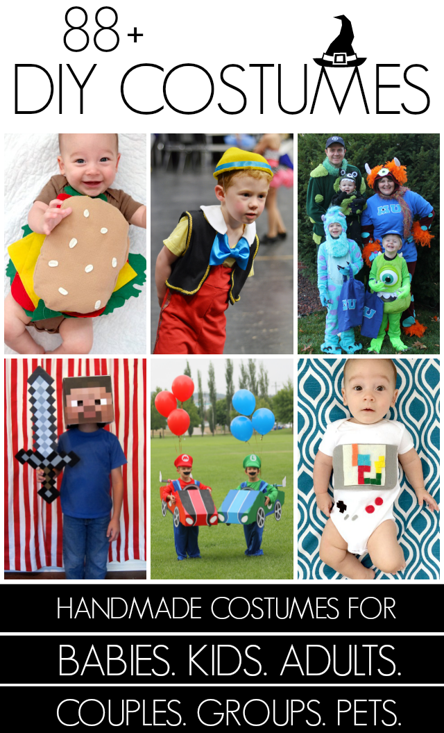 101+ Handmade Halloween costumes at Creating Really Awesome Free Things  sc 1 st  Creating Really Awesome Fun Things & 80 DIY Halloween costumes + a baby hamburger - C.R.A.F.T.