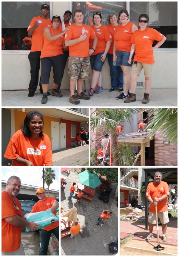 Celebration of service day with Home Depot