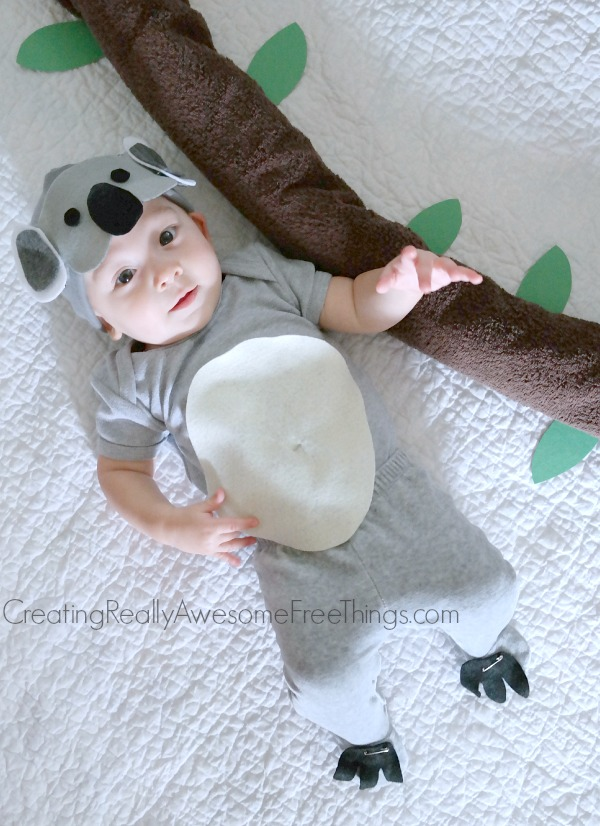 DIY Koala bear baby costume