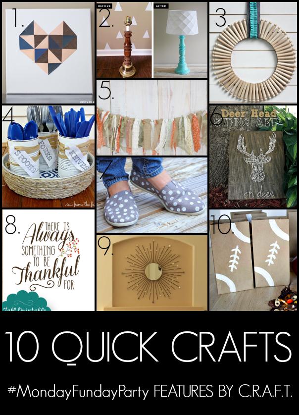 10 quick crafts C.R.A.F.T.