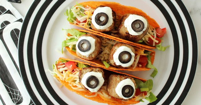 Monster tacos Halloween party food