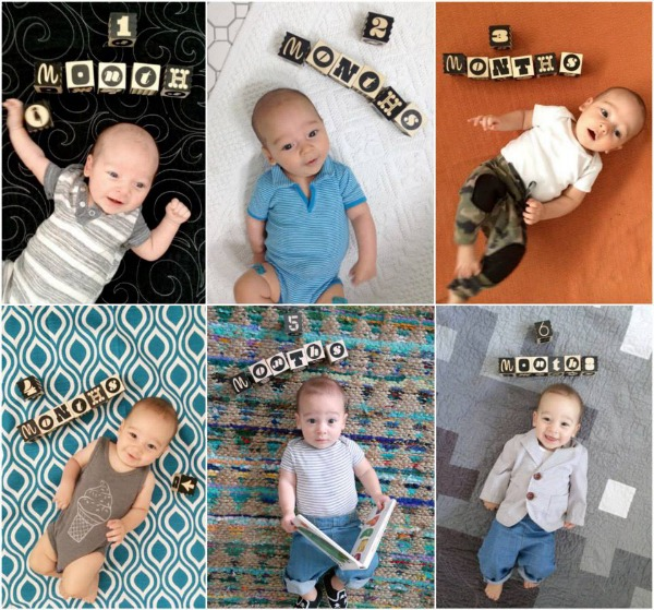 baby photography monthly picture idas