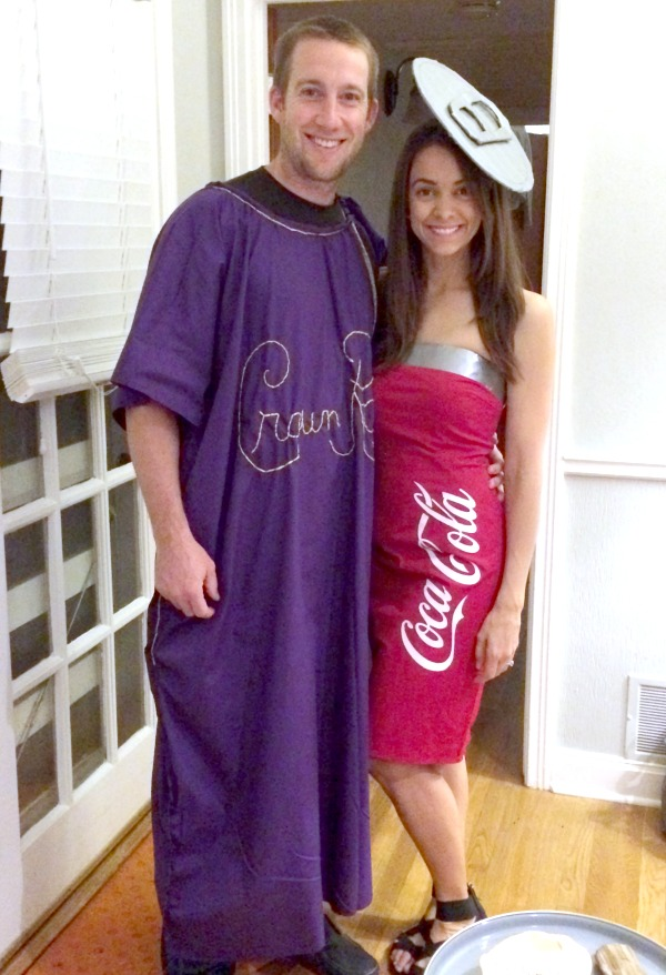DIY Crown and Coke Couples Costumes  sc 1 st  Creating Really Awesome Fun Things : original halloween costumes for women  - Germanpascual.Com