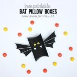 Halloween crafts {Free printable bat boxes}