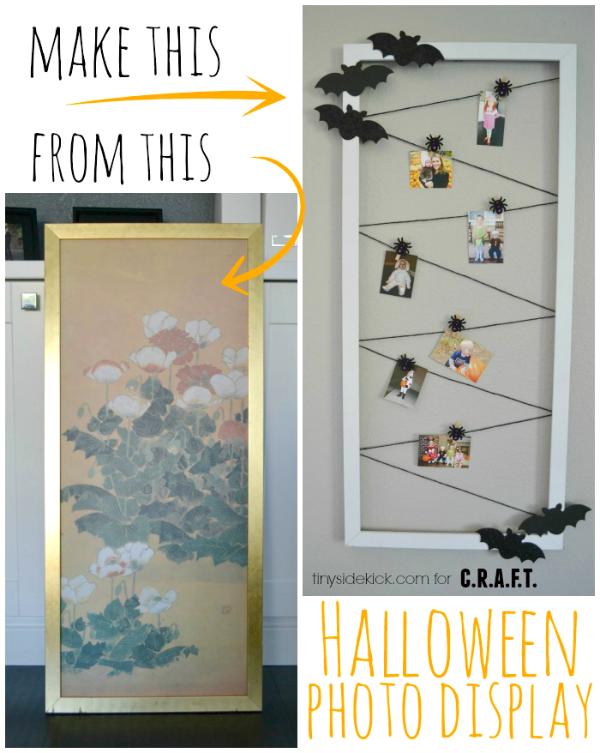 Halloween craft idea: DIY photo display