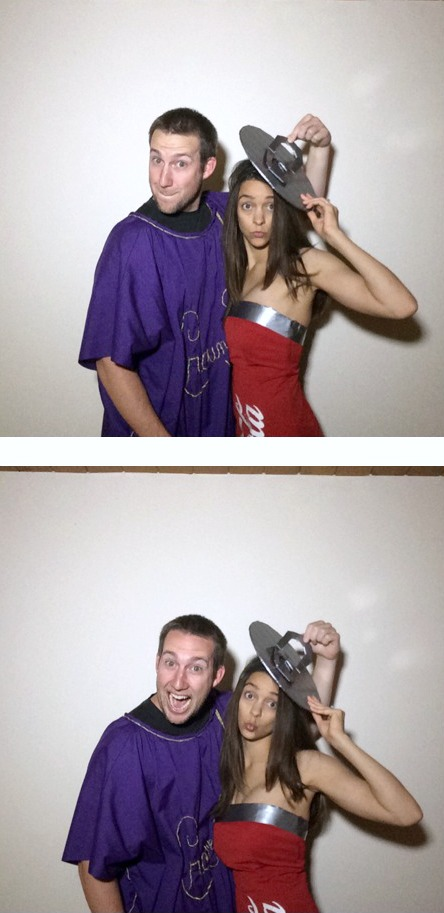 DIY Crown and Coke Couples Costumes