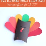 Thanksgiving crafts {Free printable turkey boxes}