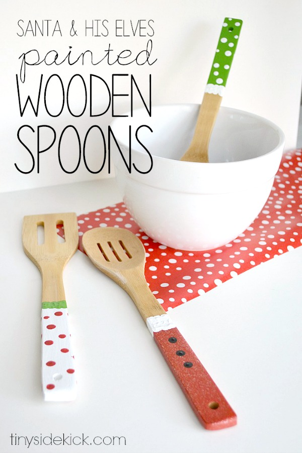 Homemade gift ideas painted wooden spoons c r a f t for Holiday party gift ideas for the hostess