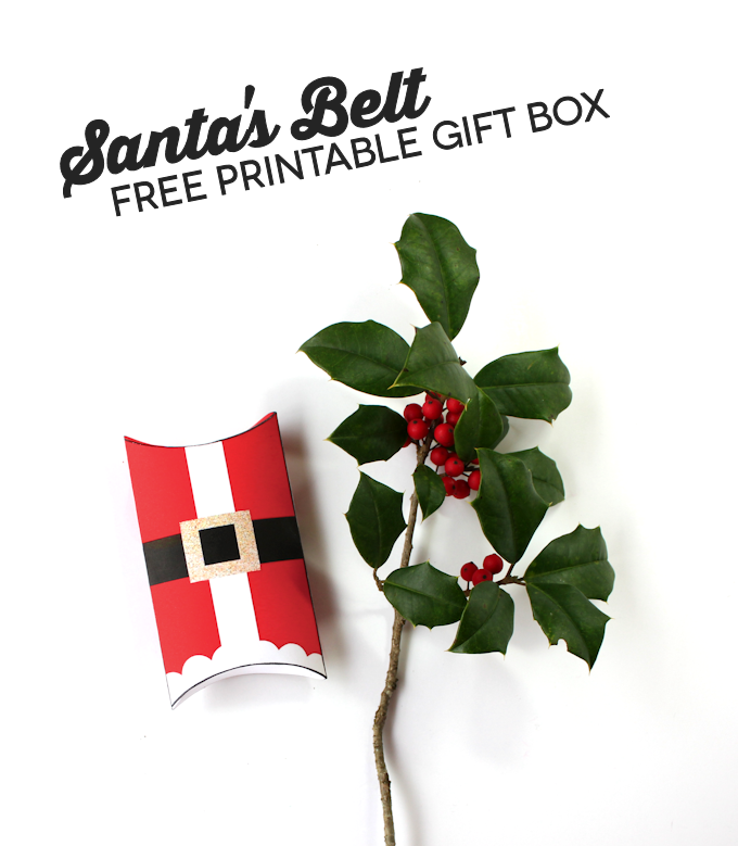 Santas Belt Free Printable Gift Box 3