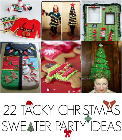 32 DIY Ugly Christmas Sweaters CRAFT