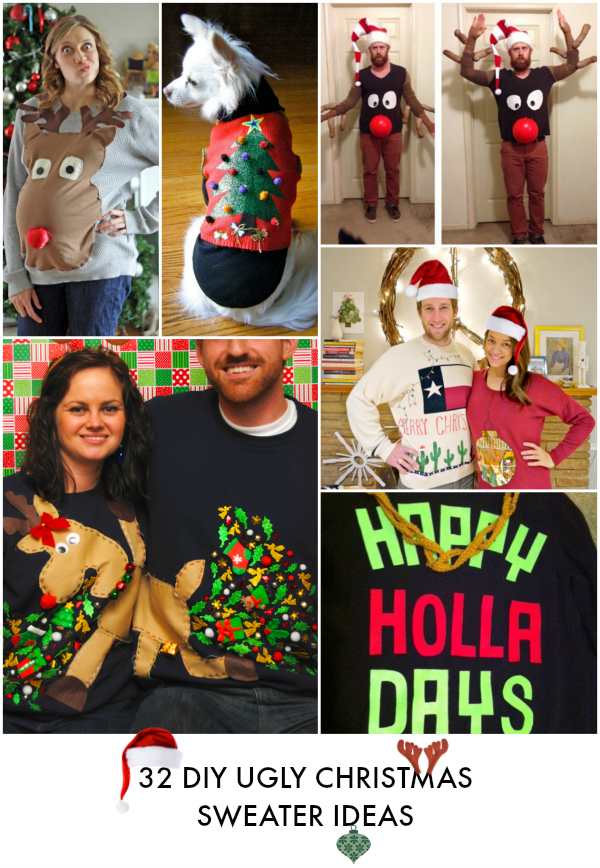 28 ugly christmas sweater party ideas craft diy ugly christmas sweaters solutioingenieria Images