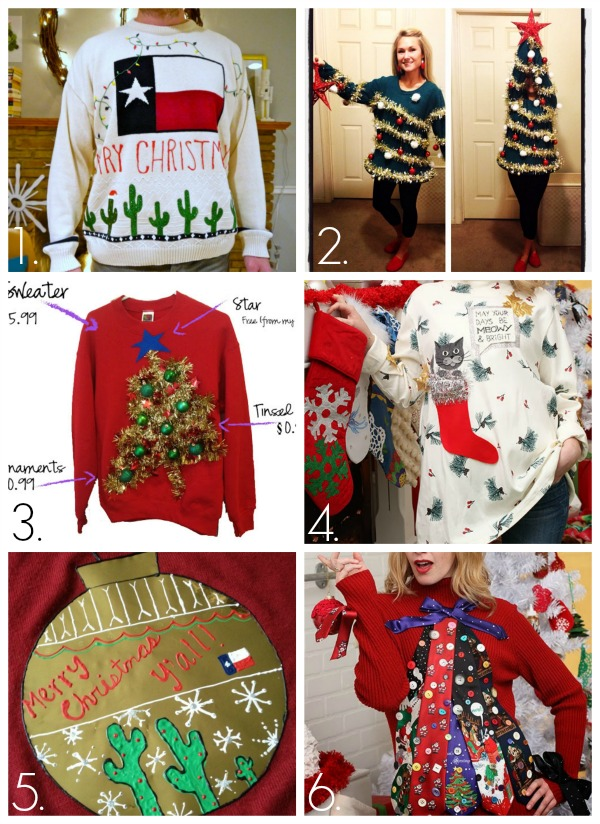 32 diy ugly christmas sweaters craft 32 diy ugly christmas sweaters solutioingenieria Gallery