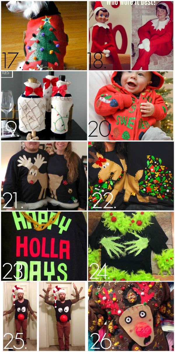 32 Diy Ugly Christmas Sweaters C R A F T