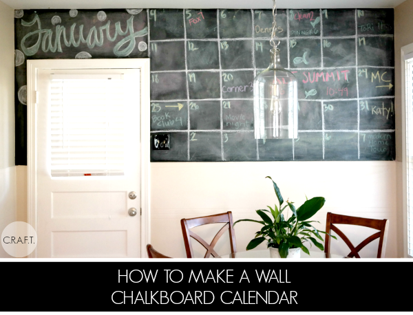 How to make a chalkboard calendar