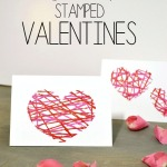Valentine crafts: Easy string art