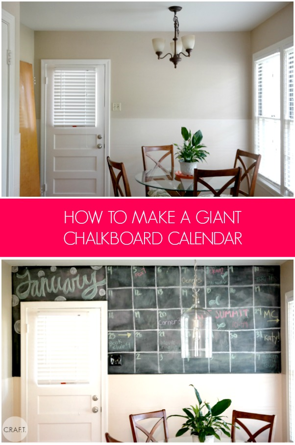 How to make a chalkboard calendar on your wall
