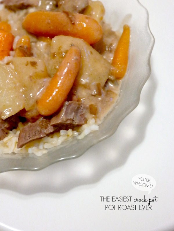 The easiest crock pot pot roast ever!