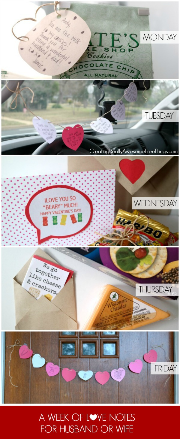 A week of Valentine Ideas for your husband