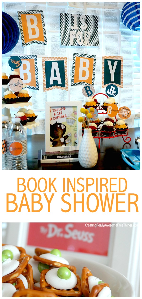 Book inspired baby shower