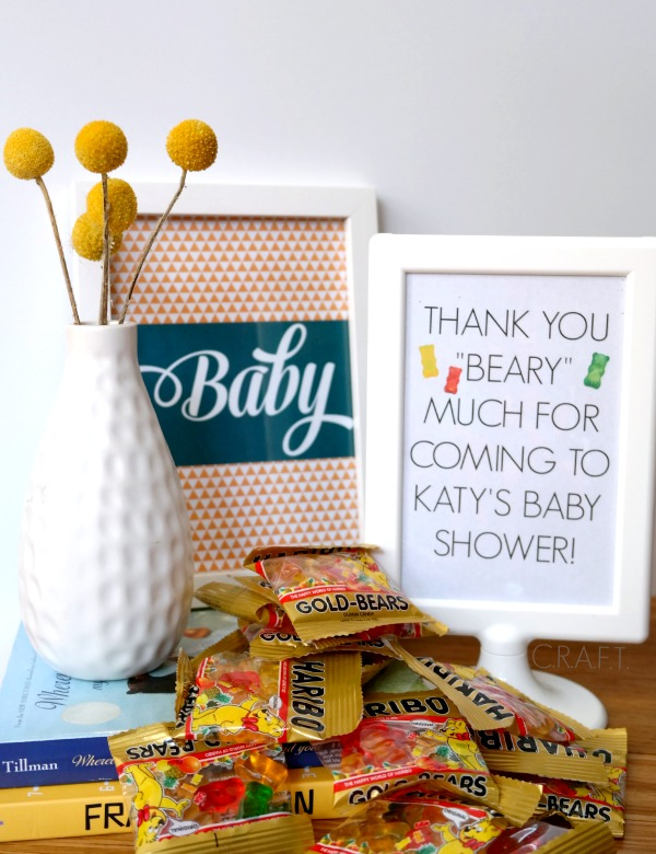 Homemade Baby Shower Favors Craft