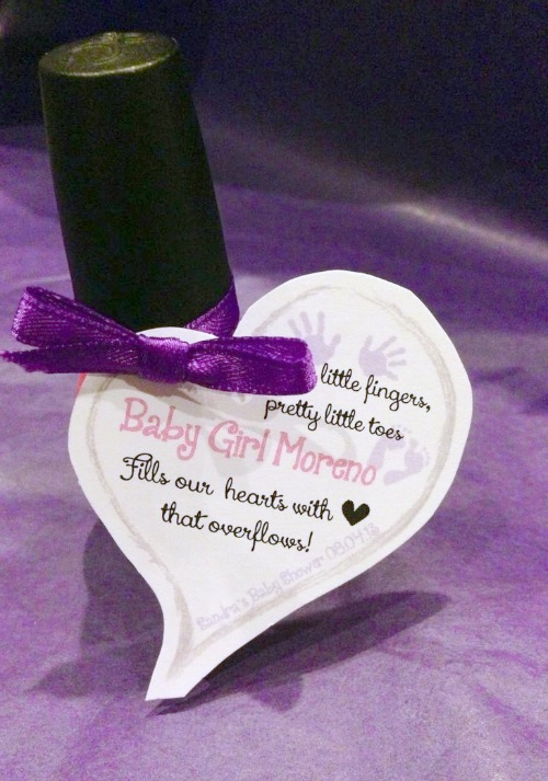 Baby shower poem favors