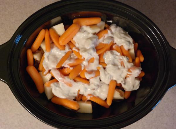 The easiest crock pot pot roast ever!