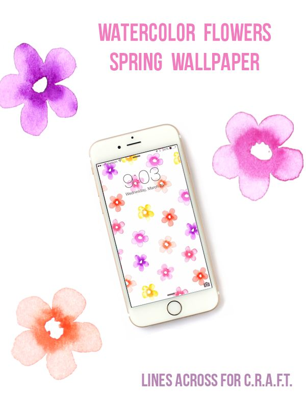 Spring inspired free iPhone wallpaper