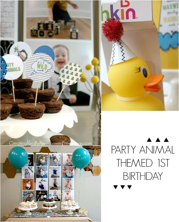Party animal themed first birthday!