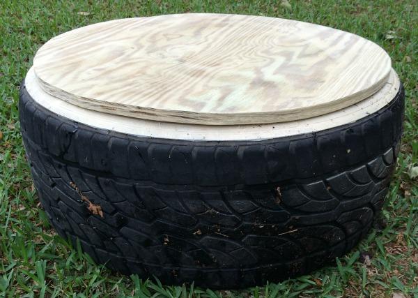 DIY tire sandbox