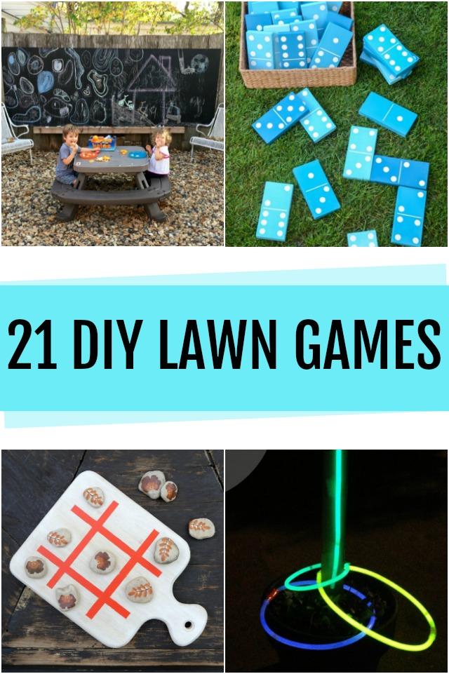 21 DIY Backyard Games
