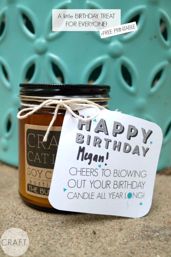 Free printable birthday gift idea for anyone!