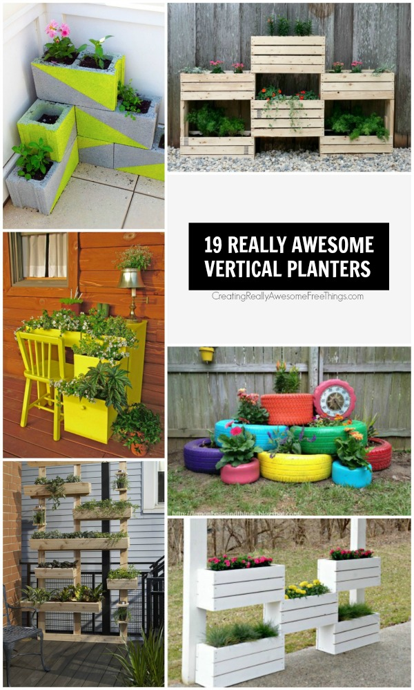 19 really clever vertical planters
