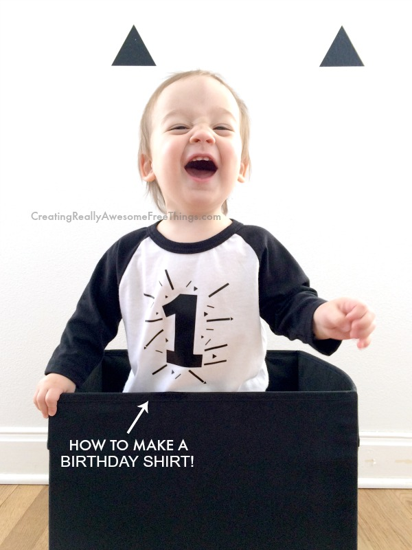 How to make a DIY Birthday T-shirt for kids! Looks easy!