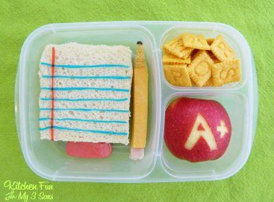 Back to school lunch idea