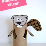 Beaver: Toilet paper roll crafts