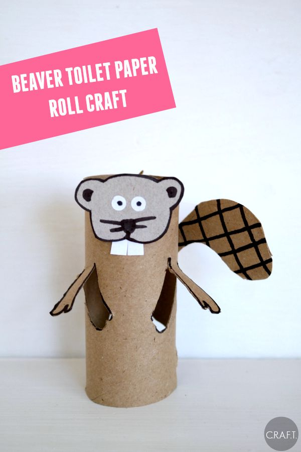 B is for beaver! Toilet paper roll crafts for kids, one for each letter of the alphabet!