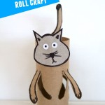 Cat: Toilet paper roll crafts