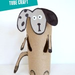 Dog: Toilet paper roll crafts